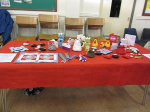 Display Table at Christmas Meeting
