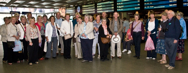 Group at St Pancras Station