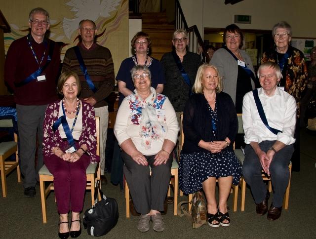 Front Row Left to Right: Sue Blackley, Liz Barnes, Margot Gale, David Hurworth. Back Row Left to Right: Richard Eddleston, Steve Austin, Elizabeth Le Marchant Brock, Helen Stewart, Marie Potts, Lucy  Beardsley.
