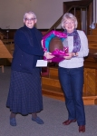 Helen Stewart Presenting Linda Selby with a Thank You Gift